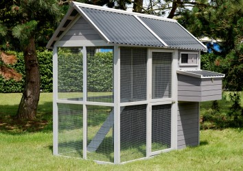 POULAILLER 6 � 8 POULES MEDIUM SQUARE + abreuvoir 10 Lts (AS4508) et mangeoire 50 cm (AS4504) OFFERTS !