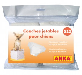 12 COUCHES CHIEN JETABLES TAILLE S