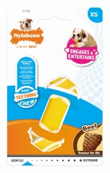 JOUET POUR CHIOT NYLABONE RAWHIDE KNOT EXTRA SMALL AU BOEUF