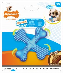 JOUET POUR CHIOT NYLABONE TEETHING AU BOEUF