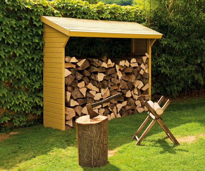 Abri b ches en bois animaloo for Decoration de jardin en bois