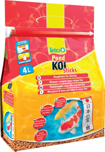 Aliment pour poissons de bassin tetra pond koi sticks for Aliment carpe koi pas cher