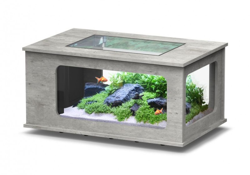 Table basse aquarium pas chere 192 litres 39 39 aquatlantis 39 39 animaloo - Table basse aquarium design ...
