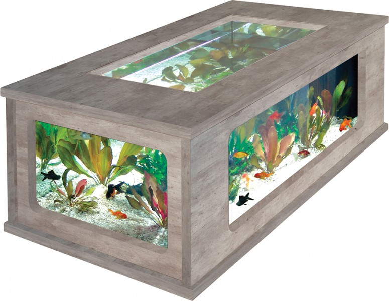 Aquariums poisson  Animaloo -> Aquarium Table Basse Pas Cher