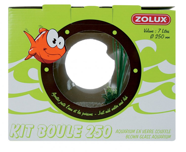 Kit boule aquarium poisson 39 39 neptune 39 39 animaloo for Poisson aquarium boule