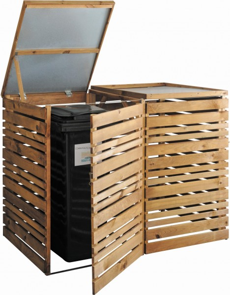 abris cache poubelles en bois animaloo. Black Bedroom Furniture Sets. Home Design Ideas