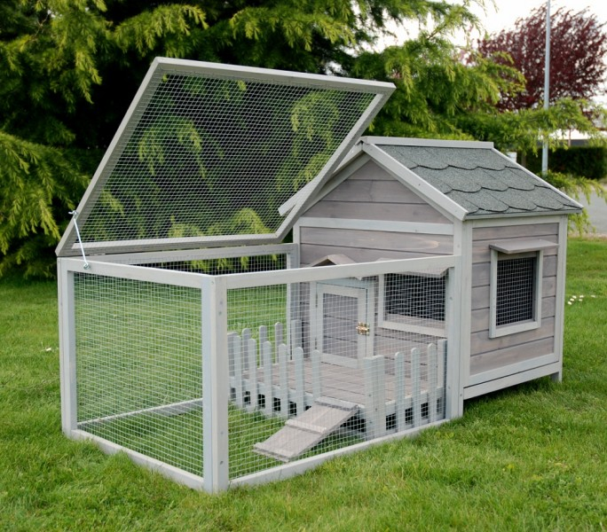 Cage lapin clapier pour lapin bois 39 39 animals cottage for Exterieur konijn