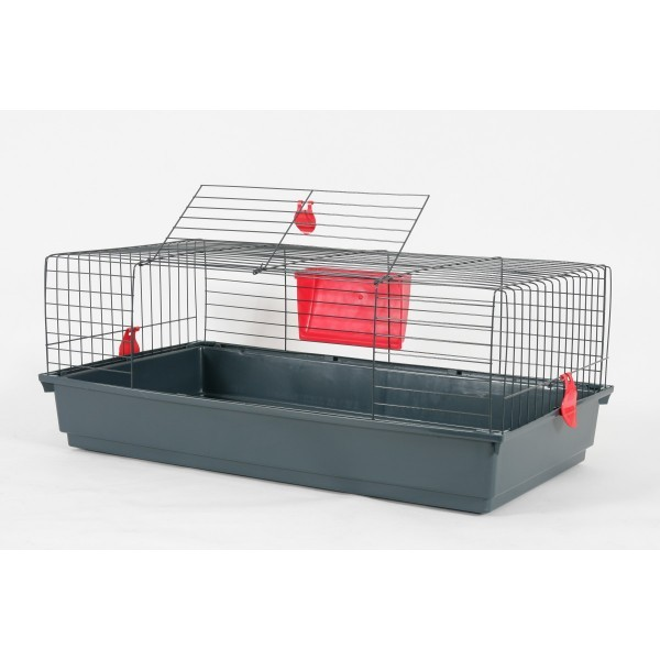 grande cage pour lapin nain 100 cm animaloo. Black Bedroom Furniture Sets. Home Design Ideas