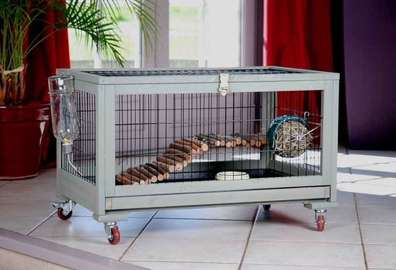 cage pour lapin d 39 int rieur animaloo. Black Bedroom Furniture Sets. Home Design Ideas