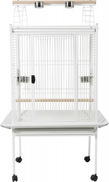 cage perroquet grande perruche gris du gabon cacatoes kubeo blanche animaloo. Black Bedroom Furniture Sets. Home Design Ideas