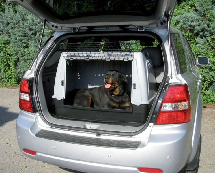 Cage de transport chien pour voiture taille 2 animaloo for Taille rehausseur voiture