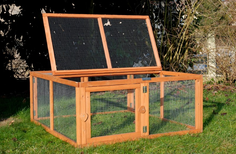 Enclos pour lapin et cochon d 39 inde pliable 39 39 run out for Cage a lapin exterieur