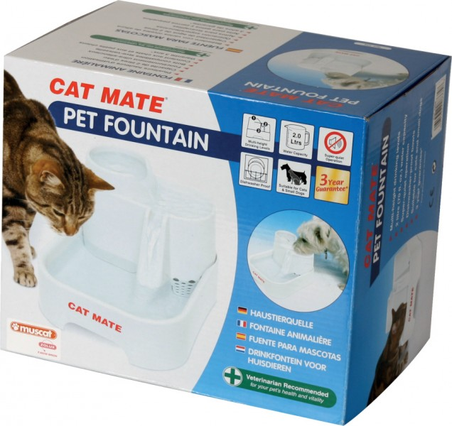 fontaine a eau chat cat mate 2 litres animaloo. Black Bedroom Furniture Sets. Home Design Ideas