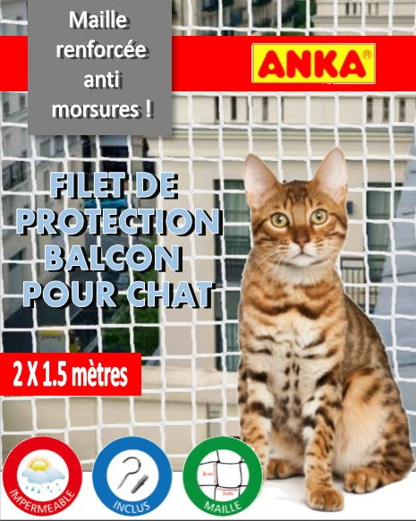 Filet de securite pour chat filet de balcon et fenetres - Protection fenetre chat ...