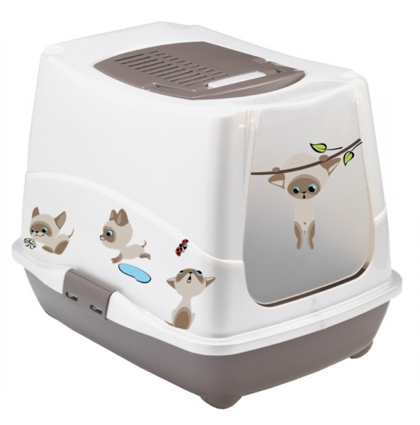 Maison de toilette chat bac a litiere chat 39 39 cat 39 s fashion 39 39 deco animaloo - Bac a litiere fermee pour chat ...