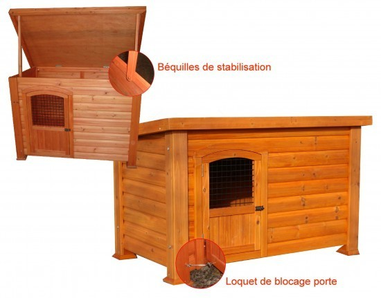 niche pour chien bois montana taille 3 animaloo. Black Bedroom Furniture Sets. Home Design Ideas