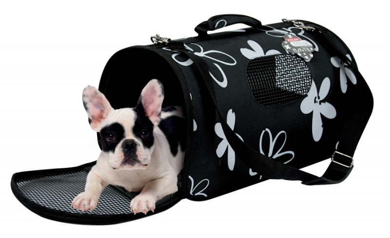sac de transport pour petit chien 39 flower 39 taille m animaloo. Black Bedroom Furniture Sets. Home Design Ideas