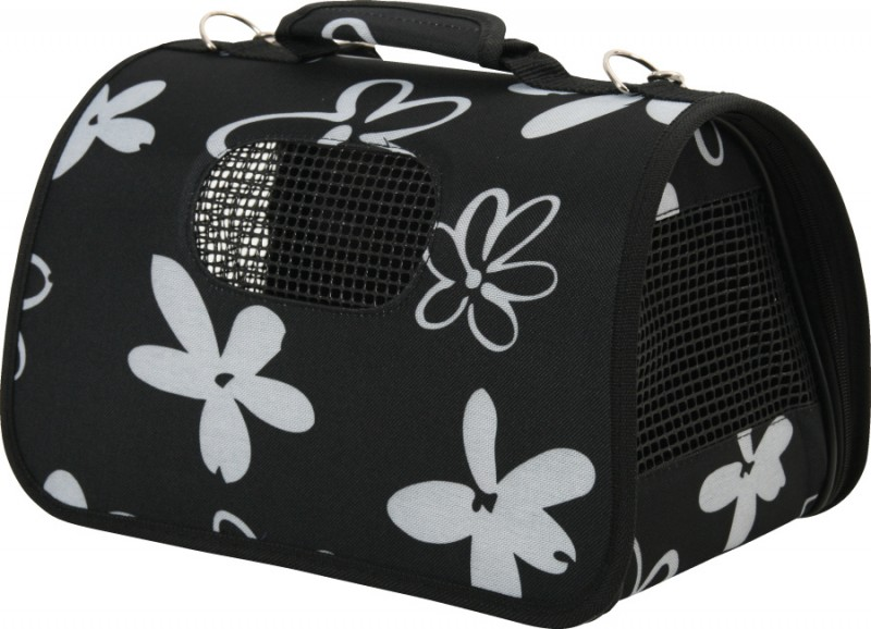 sac de transport pour chien moyen 39 flower 39 taille l. Black Bedroom Furniture Sets. Home Design Ideas
