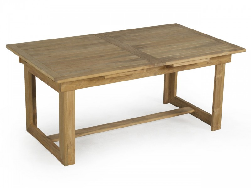 Table en teck massif for Table de jardin en teck pas cher