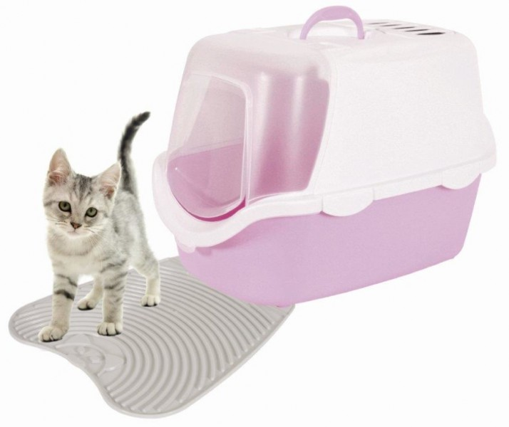 tapis sortie bac litiere chat maison toilette chat en plastique animaloo. Black Bedroom Furniture Sets. Home Design Ideas